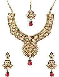 Mehek Design Gold Metal Strand Jewellery Set For Women (VD131)