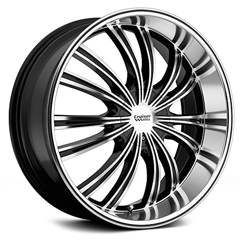 Cruiser Alloy Shadow 20×8.5 Machined Black Wheel / Rim 5×112 & 5×4.5 with a 40mm Offset and a 73.00 Hub Bore. Partnumber 912MB-2855940