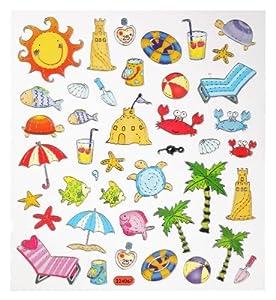 42 tlg. Set Sticker / Aufkleber - Urlaub Sommer Strand