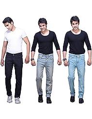 X-CROSS Men's Slim Fit Jeans Combo (Pack Of 3)