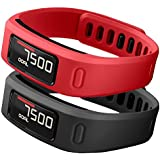 SKYLET Garmin Vivofit Replacement Bands With Metal Clasp 2 Secure Silicon Fastener Rings For Free No Tracker Black... - B01AJD0SWM