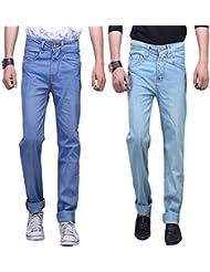 X-CROSS Men's Slim Fit Jeans Combo (Pack Of 2) - B0132WXWQQ