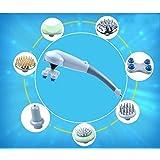Cybercity 7 In1 Handheld Vibration Body Massage Stick 7 Heads Sticker Multifunctional Electric Massager Neck Waist...