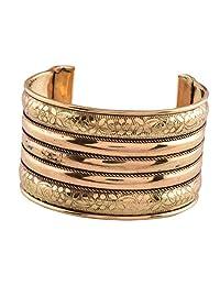 Ganapathy Gems Oxidised Brass Plated Handcuff (8095)