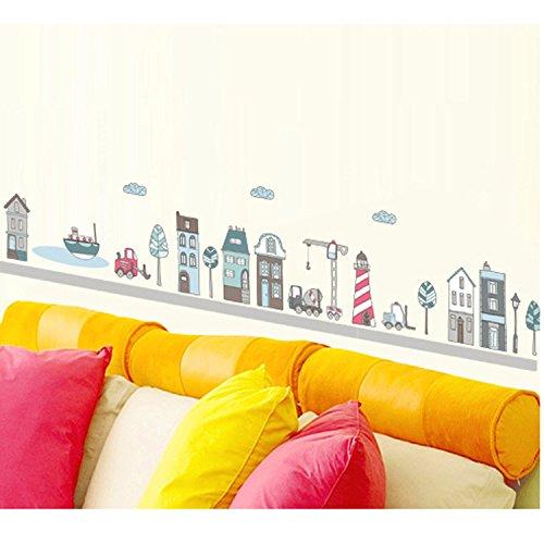 City Vector Art Wall Sticker For Kids Room