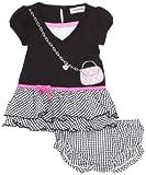Youngland Baby-girls Infant Knit To Woven Purse Art Drop Waist Seersucker
