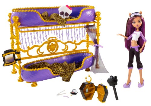 monster high w	clawdeen bed and