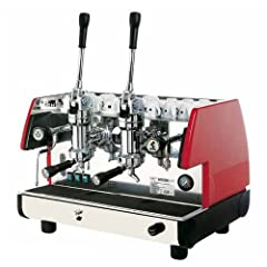 2 Groups & 2 Steam Wands Commercial Lever Espresso Machine (Red)
