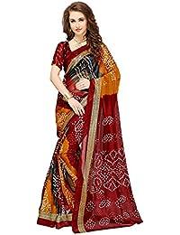 Glory Sarees Women's Bhagalpuri Art Silk Cotton Saree(vnart29_red)
