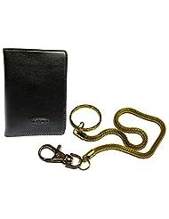 Apki Needs Fashionable Black Men's Wallet & Beautiful Golden Chain Keychain Combo - B01AC93XA2