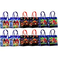 "Angry Birds Party Favor Goodie Gift Bag - 6"" Small Size (12 Packs)"