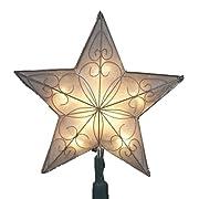 Kurt Adler 8-1/2-Inch Indoor UL Star Treetop