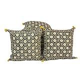 Jaipur RagaElegant Jaipuri Pure Cotton Cushion Cover Set Cotton Cushion Cover