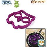 KARP™ Owl Shape Silicone Fried Egg Mold Pancake Rings, Non Stick Bakeware Accessories Kitchen Tools,BPA Free,...