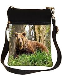 Snoogg Aged Bear Cross Body Tote Bag / Shoulder Sling Carry Bag