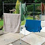 3 Fold Clothes Horse Airer - 6M Drying Space - 12 Rail Folding Laundry Dryer NEW