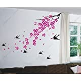 Cherry Blossom, Birds - Beautiful Tree Wall Decals For Kids Rooms Teen Girls Boys Wallpaper Murals Sticker Wall...