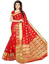 Women's Tusser Silk Saree Kanjivaram Styleby Brand Manvaa