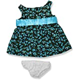 "Blue Floral Dress With Satin Belt 6099 Fits 15"" 16"" Bears, Includes Build A Bear, The Bear Mill, And Stuff Your..."