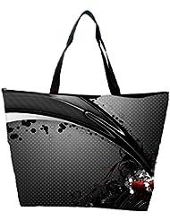 Snoogg Abstarct Grey Patytern Design Designer Waterproof Bag Made Of High Strength Nylon
