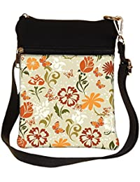 Snoogg Pattern Vector Element Cross Body Tote Bag / Shoulder Sling Carry Bag