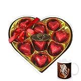 Chocholik's Legend Heart Shape Nicely Wrapped Chocolates With Diwali Special Coffee Mug - Diwali Gifts