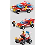 Fire Emergency Series 3 In 1 Building Bricks 200pc Toy Set Brave Firemen Fire Truck Fire Patrol Educational Blocks...