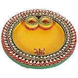 Purpledip Ganesh Chaturthi Special Puja Thali (8x8 Inch)