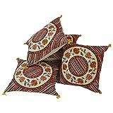 Jaipur RagaEthnic Jaipuri Floral Print Cotton Fabric Fancy Cushion Covers Set