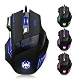 BeneU® Zelotes 7200 DPI Professional LED Optical USB Wired Gaming Mouse Mice Adjustable DPI For Pro Notebook...