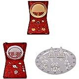 Gold Plated GL Pooja Thali Set,Silver Plated Royal Pooja Thali Set And Silver Plated Ganesh Laxmi Swastik Pooja...