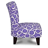 Totally Tween Armless Chair - Freehand Thistle with Pebbles Accents