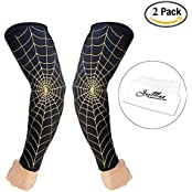 2-Pack Basketball Sleeves JeeMax Compression Arm Sleeves For Basketball Football Running - Arm Support Improves...