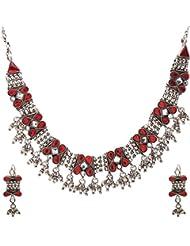 Anmol Jewellers Sterling Silver Jadtar Necklace For Women