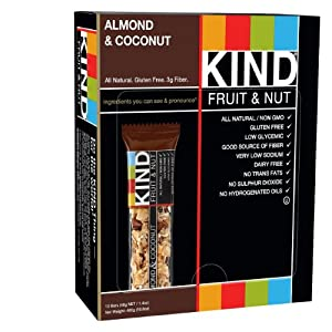 KIND Fruit & Nut, Almond & Coconut, All Natural, 1.4-Ounce Gluten Free Bars, 12 Count