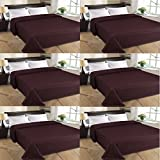MSE Set Of 6 Home Collection Premium Quality Double Bed AC Bedspread Blanket