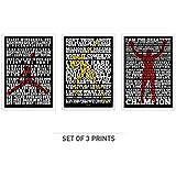 "Lab No. 4 Set Of Three ""Michael Jordan"", ""Usain Bolt"", ""Muhammad Ali"" Motivational Quote Poster In (12"" X 18"")..."