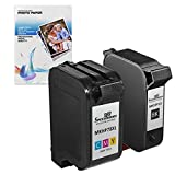 Speedy Inks - Remanufactured Replacement For Hewlett Packard HP HP 15 Black & HP 78 Tri-Color Ink Cartridges +...