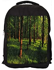"""Snoogg Grass And Trees Casual Laptop Backpak Fits All 15 - 15.6"""" Inch Laptops"""