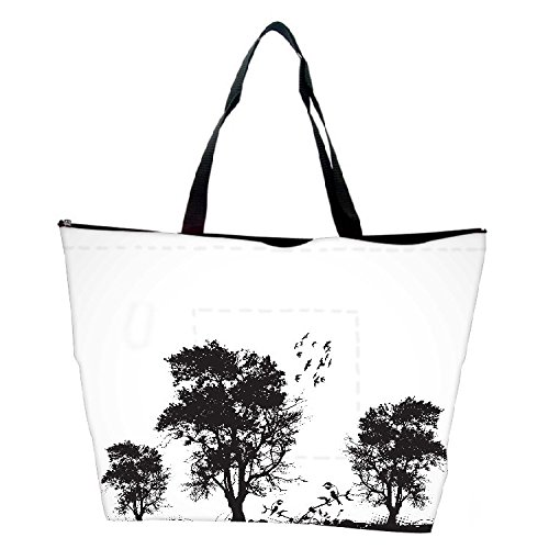Snoogg Vector Grunge Background With Trees Waterproof Bag Made Of High Strength Nylon