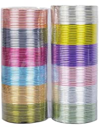 Muchmore Beautiful Fashion Set Of 12 Multi Color Made Bangles In 1 Box For Women's Jewelry