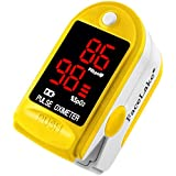 Facelake FL400 Pulse Oximeter With Neck/wrist Cord, Carrying Case And Batteries - Yellow