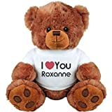 I Heart You Roxanne Love: Medium Plush Teddy Bear