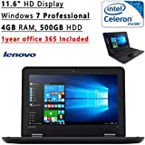 Lenovo Thinkpad 11.6-Inch HD Flagship Ultrabook Laptop PC (Intel Celeron N2940 Quad-Core, 4GB RAM, 500GB SATA, Windows 7 Pro)