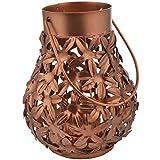 NI Décor Metal Decorative Lanterns Without Bulb - 11 Cm X 11 Cm X 13 Cm, Bronze