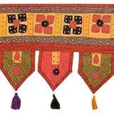 Cultural Toran Rust Cotton Floral Patch Work Toran Décor By Rajrang