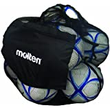 Molten Mesh Ball Bag, Holds Up To 12 Soccer Or Volleyballs (Black) By Molten