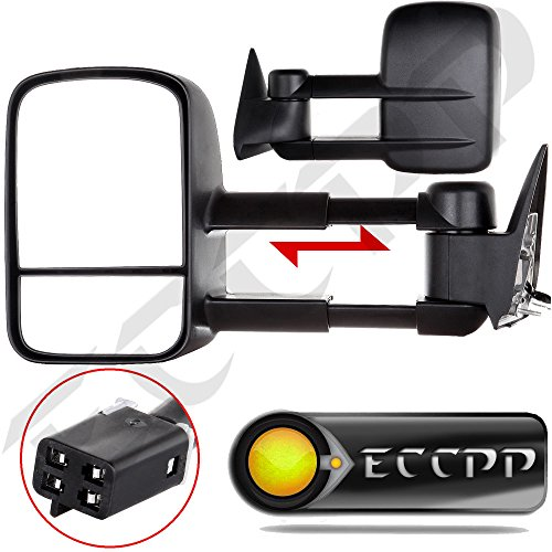 ECCPP Towing Power Non-heated Side View Door Mirrors Left & Right Pair Set for 88-98 Chevy/GMC C/K1500 88-00 C/K2500 3500 92-99 Suburban C/K1500 2500 Tahoe Yukon Truck/2000 Chevy Tahoe GMC Yukon V8 5.7L