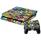 Mighty Stickers Protective Vinyl Skin Decal Cover For Sony Play Station 4 Ps4 Console & Remote Dual Shock 4 Controller...
