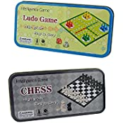 Ludo & Chess Pocket Games For Your Travels To Relieve Boredom Pack Of 2 Sc935